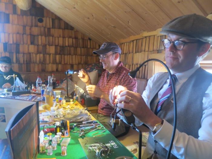 flugbindare, binda flugor, fly tying, fly fishing, peter scheffler, per johansson, Max Nygren, fiskemässa sälen, Jonas i Sälen Game Fair, gamefair 2017