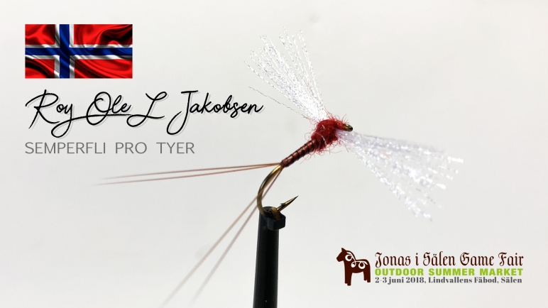 Semperfli pro tyer, Roy Ole L Jakobsen, Norwegian Fly Tyer, fly fairs, fly tying, Semperfli, Jonas i Sälen Game Fair, fly fair sälen, fly tying sälen, Sälen, fiskemässa, flugfiske, flugbindare, flugbindning, binda flugor, Ahrex, Ahrexhooks, fish, fishing sälen, fishing norway